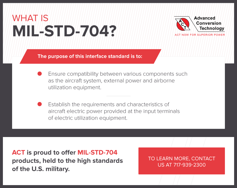 What is MIL-STD-704?