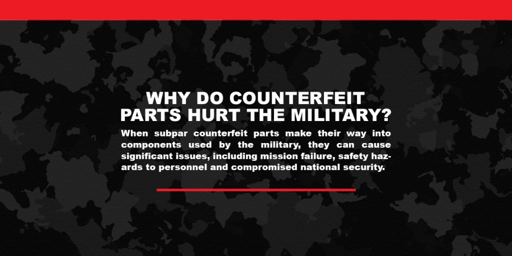 How counterfeit power supply materials undermine our armed forces