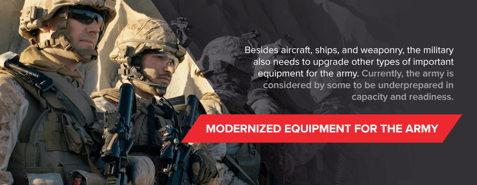 Modernized equipment for army