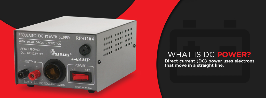 What Is DC Power? Direct current (DC) power uses electrons that move in a straight line.
